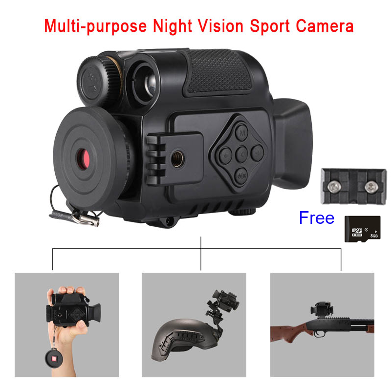 cameras infravermelhas do tamanho nv do zumbido das cameras 5x da acao do esporte da visao