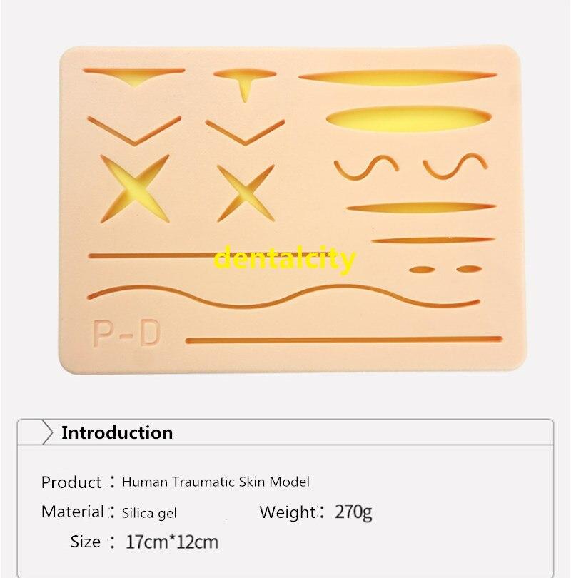 Image 2 - 人間の外傷性皮膚モデル縫合トレーニングパッド縫合トレーニングキットのためドクターナース学生練習ツール -    グループ上の 美容