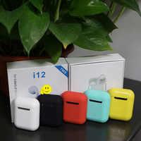 I12 tws Matte Bluetooth Kopfhörer Drahtlose Ohrhörer Hände freies Business Ohrhörer Sport Headset Bluetooth musik Kopfhörer Ohrhörer