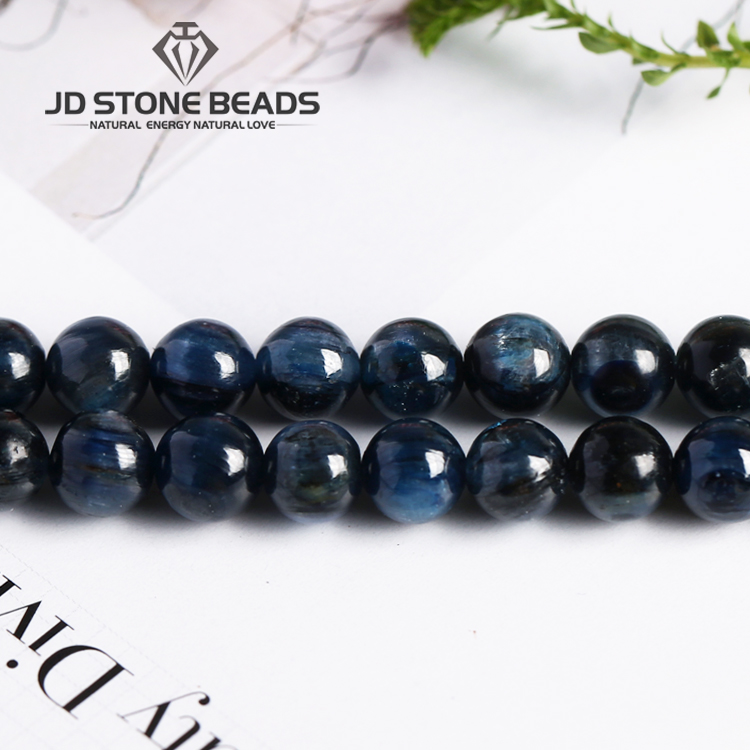 Blue Kyanite Beads7-8mm Pick Size Round Blue Color Wholesale Price Man Necklace Pendants Accessory For Jewelry Making