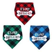 Хлопковая бандана для собак шарф с принтом на день рождения