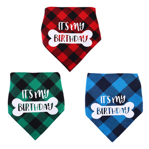 Cotton Dog Bandana Dog Birthda