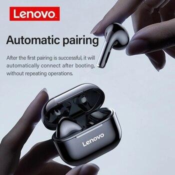 Lenovo LP40 TWS Bluetooth Earphones True Wireless Headset HD Stereo Headphone Noise Cancelling IPX4 Waterproof Gaming Earpods 2
