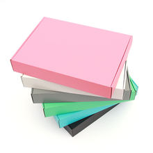 10pcs / color gift box blank Festival Party display corrugated packaging storage wig carton support custom size and print logo