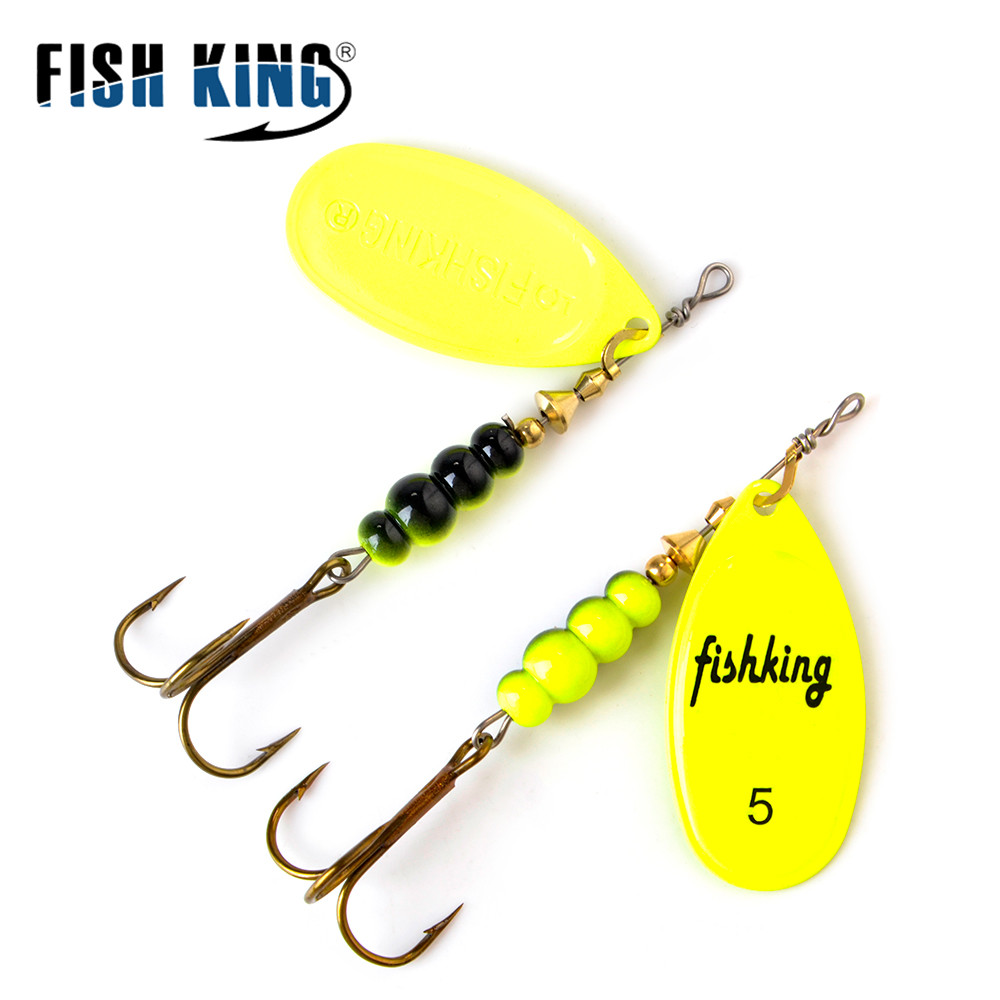 FISH KING Spinner Bait Spoon Lures  4