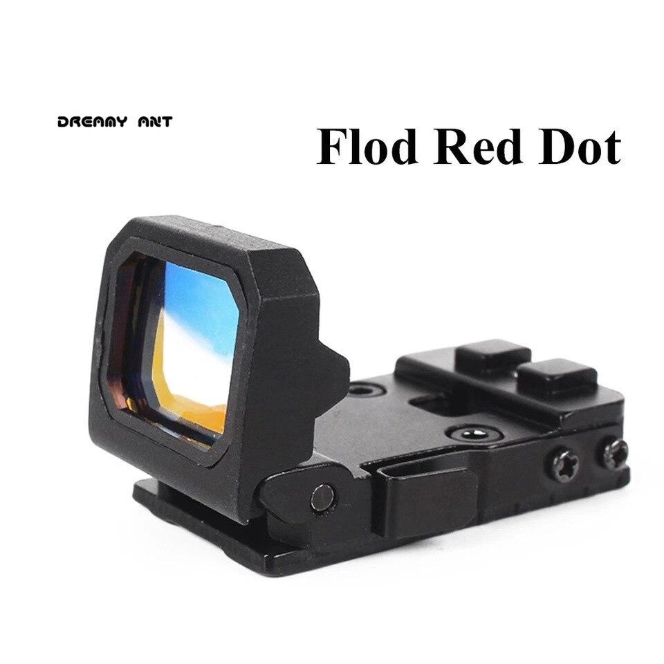 DREAMY Red Dot Sight Scope Tactics Mini Flip Red Dot Optic Sight Pistol Holographic Weapon Sight Reflect Collimator Sight