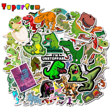 50pcs Cartoon Animal Dinosaur Sticker Unicorn Flamingo Toy for Children Waterproof Stickers DIY Scrapbooking Motorcycle Desk