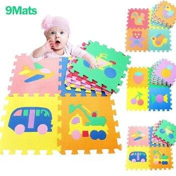 цена на EVA Foam Cartoon Fruit Animal Cart Puzzle Play Mat Baby Rugs Toys Play Floor Carpet Interlocking Soft Pad Children Games Toy