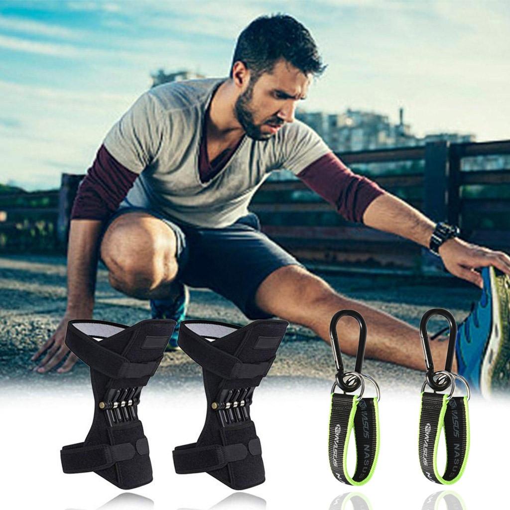 PowerLift Joint Patella Booster Protector Knee Protector + 2 Horizontal Bars Powerful Rebound Spring Force Knee Sleeve