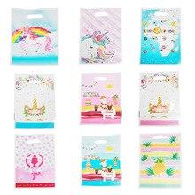 Sac à thème licorne et flamand rose pour filles, cadeau de fête d'anniversaire pour enfants, décoration de mariage, pour fête prénatale