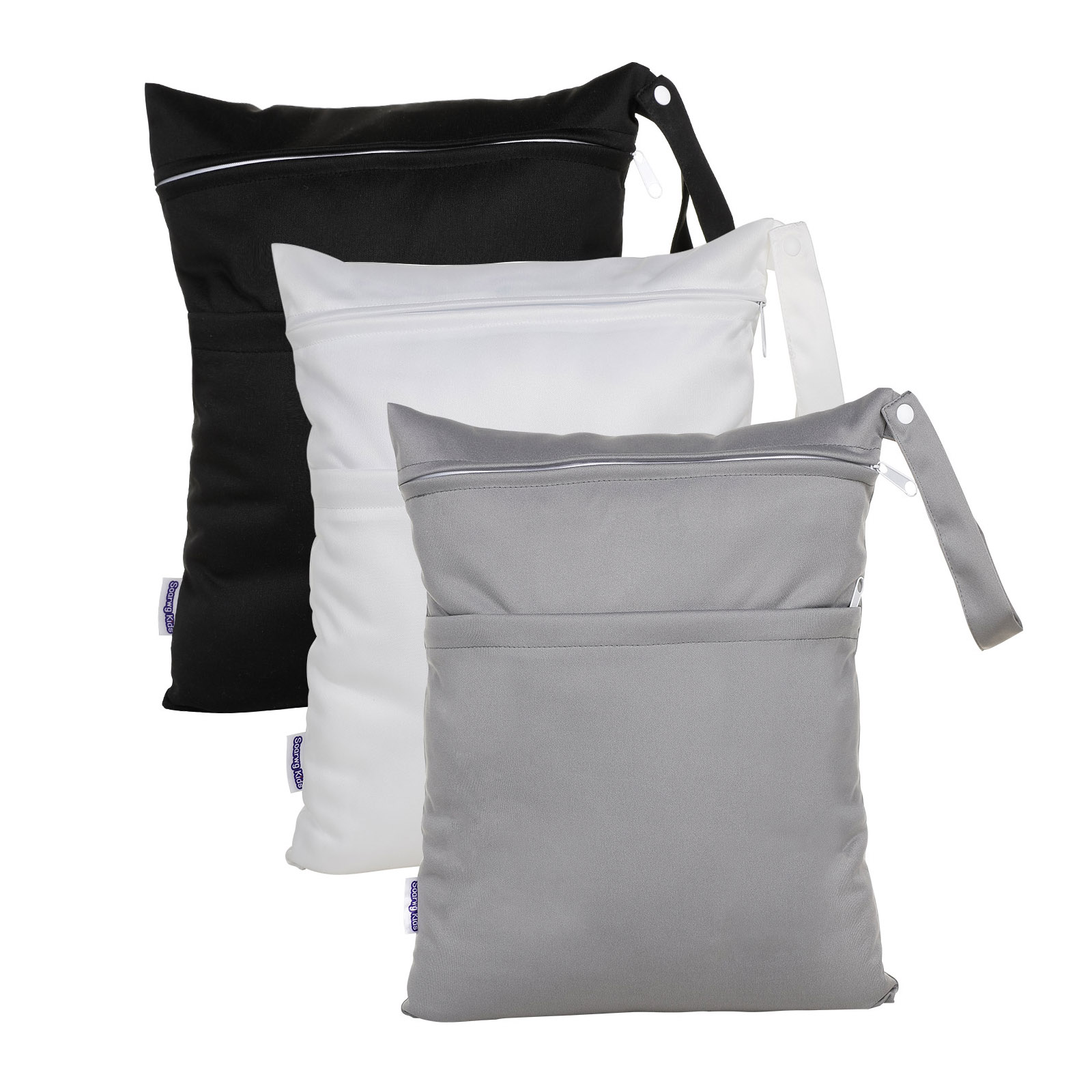 Wet Dry Bags for Baby Cloth Diapers  Washable Travel Bags Beach Pool Gym Bag for Swimsuits & Wet Clothes with 2 pack
