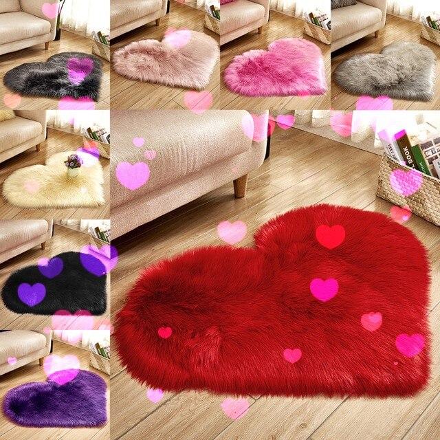 Microfine Faux Fur Rugs Large Sheepskin Non Slip Bedroom Shaggy Carpet Living Room Mats Home Decoration Modern Parlor Floor Rug