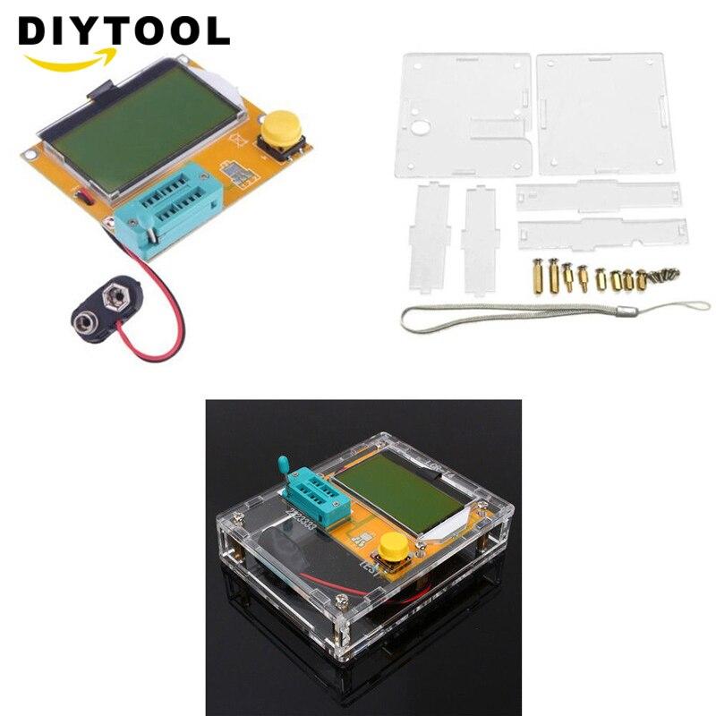 LCR-T4 Mega328 M328 ESR Meter Transistor Tester Digital LCR Diode Triode Capacitance MOS/PNP/NPN LCR LCD Screen Tester