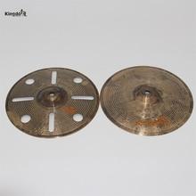 "Kingdo B20 handmade Special cymbal 10 ""hihat crash cymbals for drums"