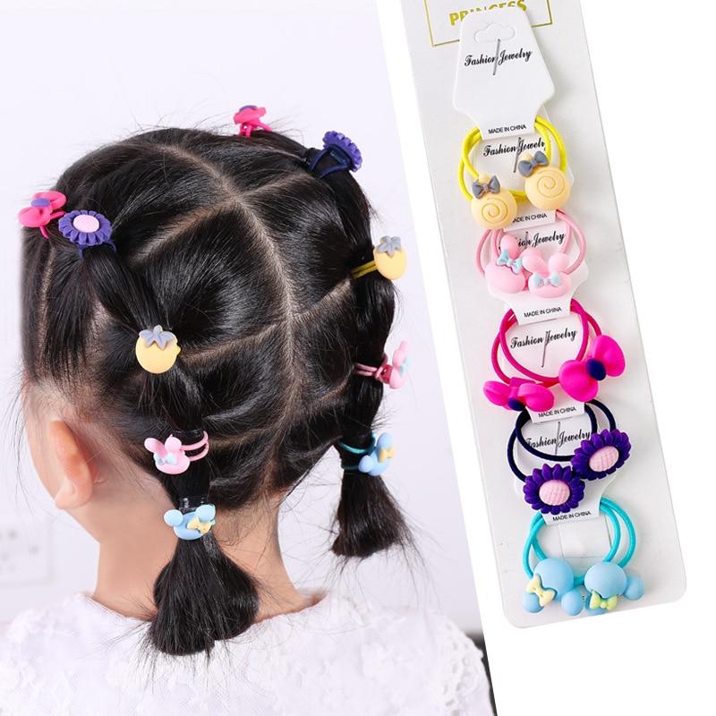 cute cartoon hair bands for girls fruit headband elastic Scrunchies Ponytail Holder Kids Hair hoop hair