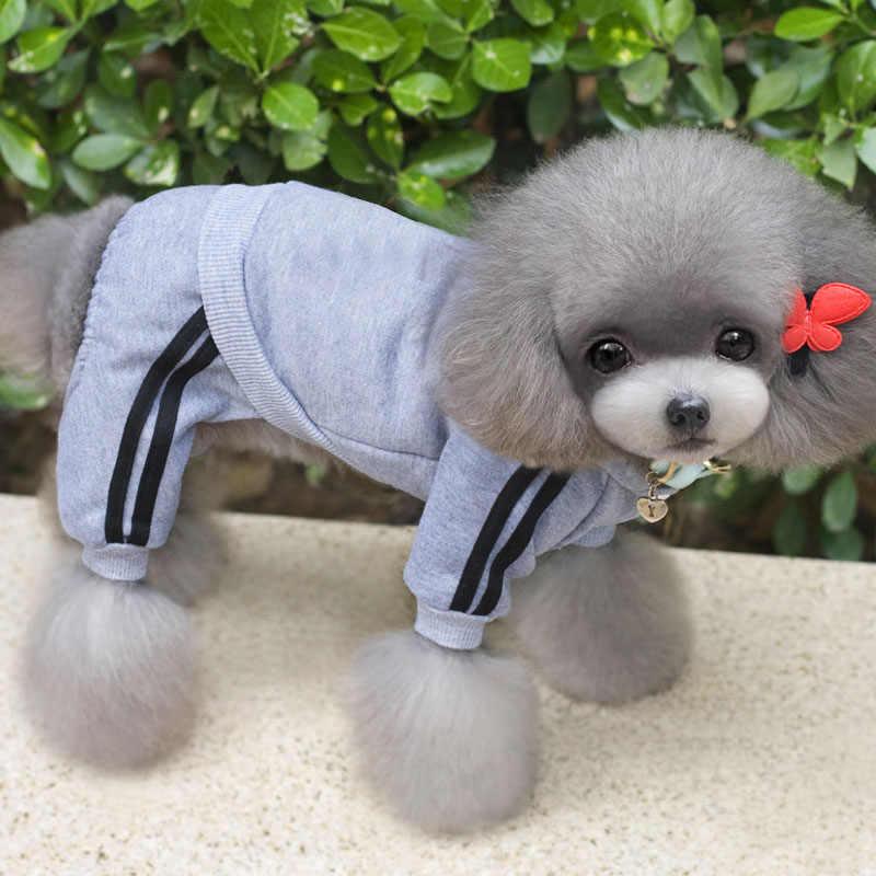 XS-XXL สัตว์เลี้ยงสุนัขเสื้อผ้าสุนัข Jumpsuit Cat ชุดนอนเสื้อผ้า Thicken สัตว์เลี้ยง Hoodie Coat ชุดสำหรับสุนัข Chihuahua Yorkie pug