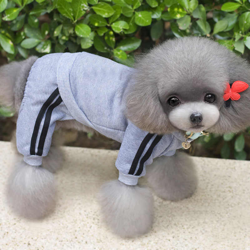 XS-XXL ropa para perros calientes Mono para perros ropa de pijama de perrito para gatos ropa de abrigo con capucha para mascota gruesa para perros Chihuahua perro Pug