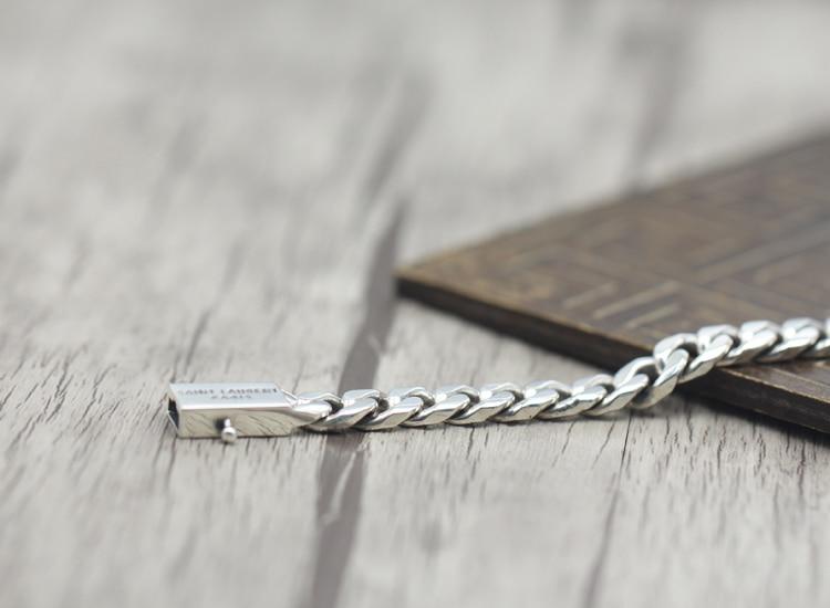 2017 s925 argent sterling nouveau bracelet Simple et généreux populaire rétro tressé bracelet style classique envoyer un cadeau à l'amour - 2
