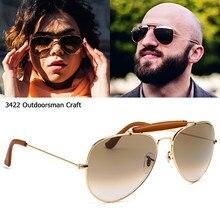 Jackjad clássico do vintage 3422 outdoorsman artesanato estilo couro óculos de sol 2021 marca lente vidro óptico óculos sol