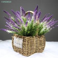 INDIGO- Lavender Purple Bouquet Decorative Plastic Flower Wedding Home Outdoor Party Event Free Shipping