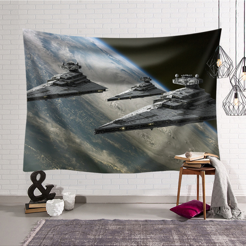 Movie The Star Wars Tapestry Film Tapestry Wall Hanging Beach Towel Polyester Fabric Blanket 200X150cm Room Decor for gifts image
