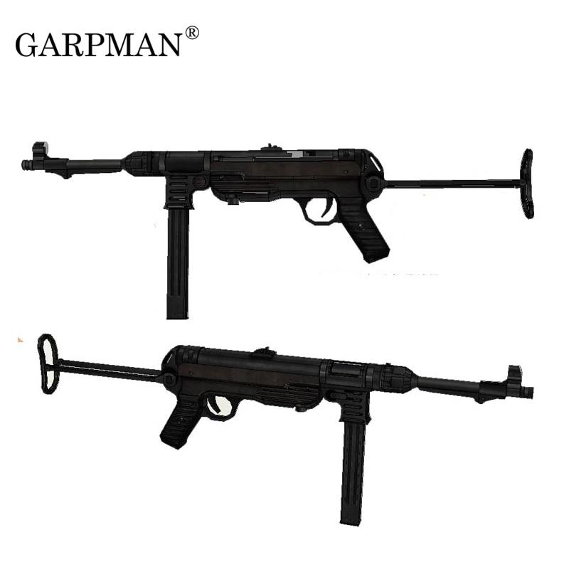 84cm 1:1 German Mp40 Submachine Gun 3D Paper Model Frearms Weapon Handmade Drawings Military Paper Prop Gun Model Papercrafts