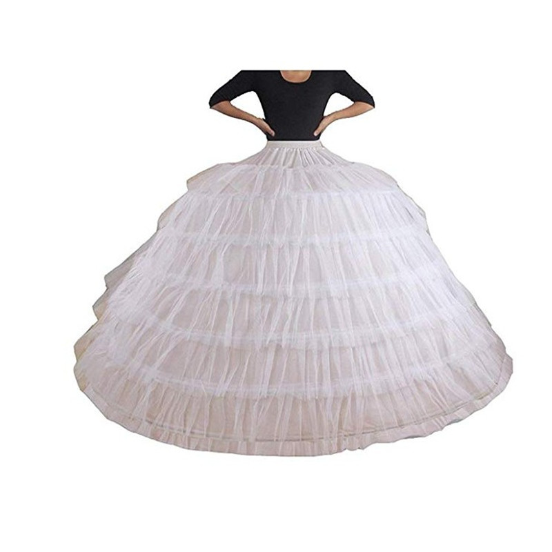 Fashion Ladies Petticoat 6 Hoop Handmade Crinoline Underskirt For Wedding Dress