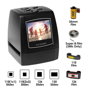 35mm Film Scanner Digital USB Film Converter w/ Display 110/126/135 Slides Negative Film Printer High Resolution Photo Scanner