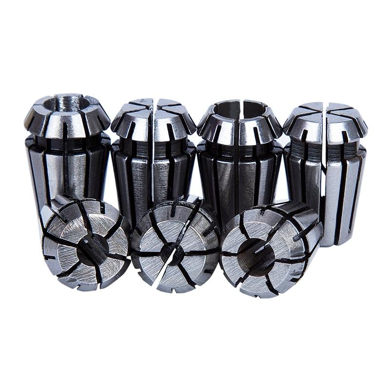 ER11 Collet Set 7Pcs Collet Lathe Tool 1~7mm Spring Steel CNC Collet Chuck Large