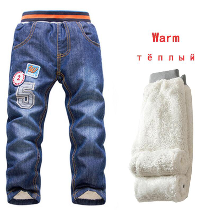 2019 Autumn Baby Boys Jeans Trousers Casual Children Jeans Pants Winter Kids Jeans Boys 2-7Y Thicking Warm Denim Kids Trousers