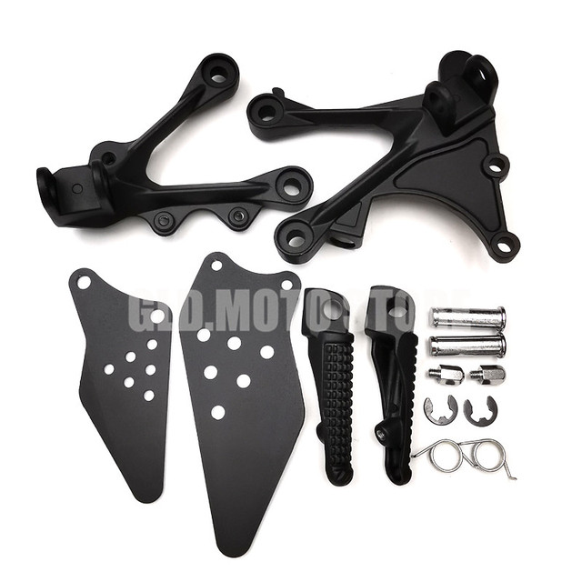 Motorcycle Front Rear Footrest Foot Pegs Set For Kawasaki ZX6R ZX 6R ZX636 2005 2006 2007 2008 2009 2010 2011 2012 2013 2014