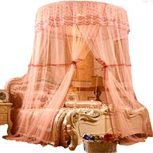 Lato 2019 moskitiera nowy pojedynczy 1 8m łóżko podwójna księżniczka instalacja darmowe zasłony środek odstraszający komary namiot do sypialni tanie tanio Trzy-drzwi Uniwersalny Czworoboczny Domu Dorosłych Pałac moskitiera Owadobójczy traktowane Poliester bawełna