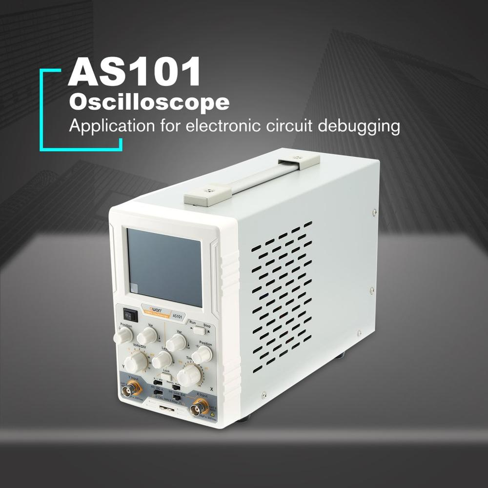 AS101 Single Channel LCD Digital <font><b>Oscilloscope</b></font> Handheld Scopemeter Scope Meter <font><b>10MHz</b></font> 100MS/s Norm/Auto/TV Run/Stop image