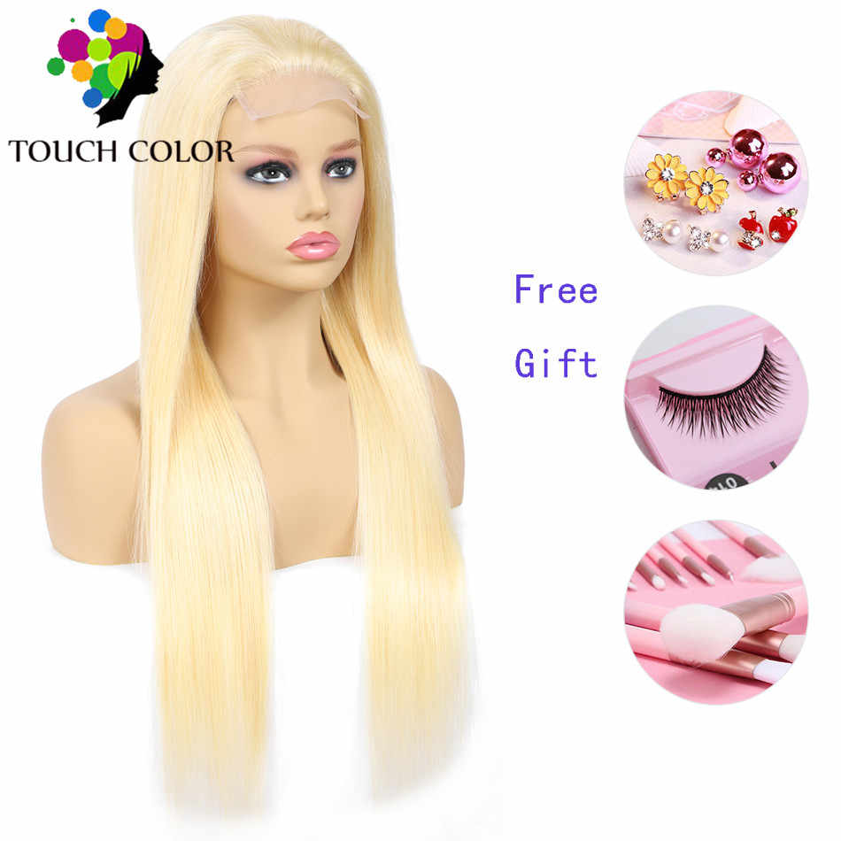 613 Blonde Lace Front Wig Pre Pluck Hairline With Baby Hair Peruvian Straight Human Hair Lace Frontal Wig 4x4 Remy Hair Lace Wig