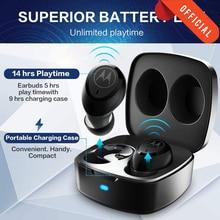 Motorola VerveBuds 100 Bluetooth TWS 무선 이어폰 (마이크베이스 스테레오 포함) AAC SBC 이어 버드 무선 헤드폰 음성 제어