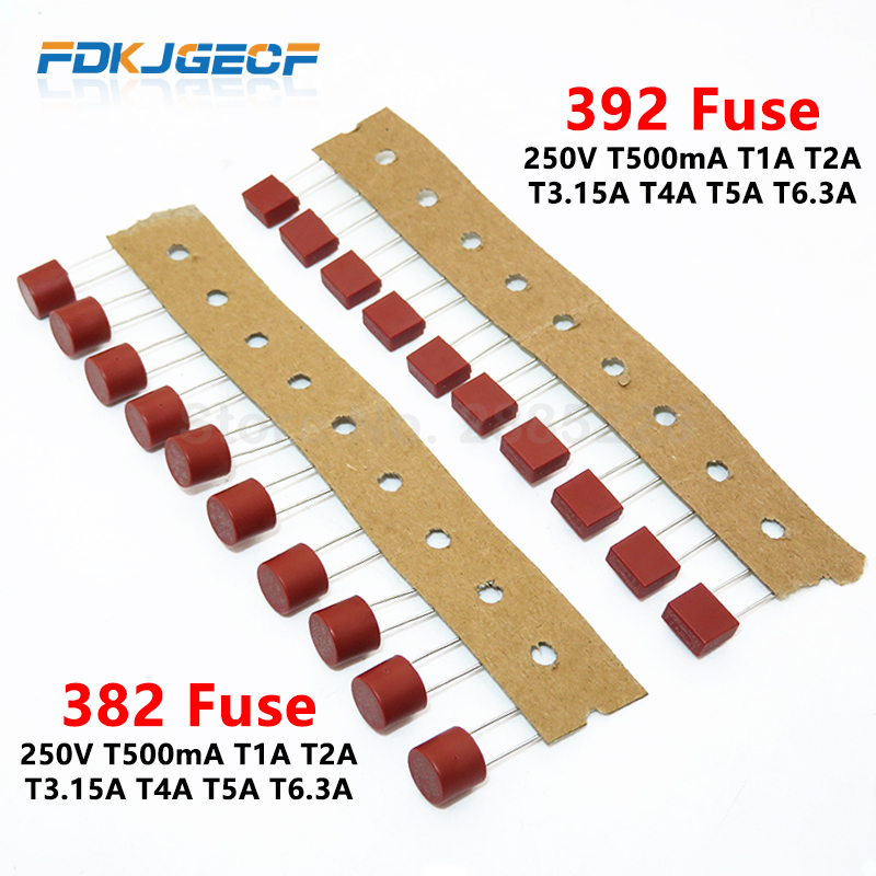 392 Series Square Fuse Slow Break 250V T500mA T1A T2A T3.15A T4A T5A T6.3A