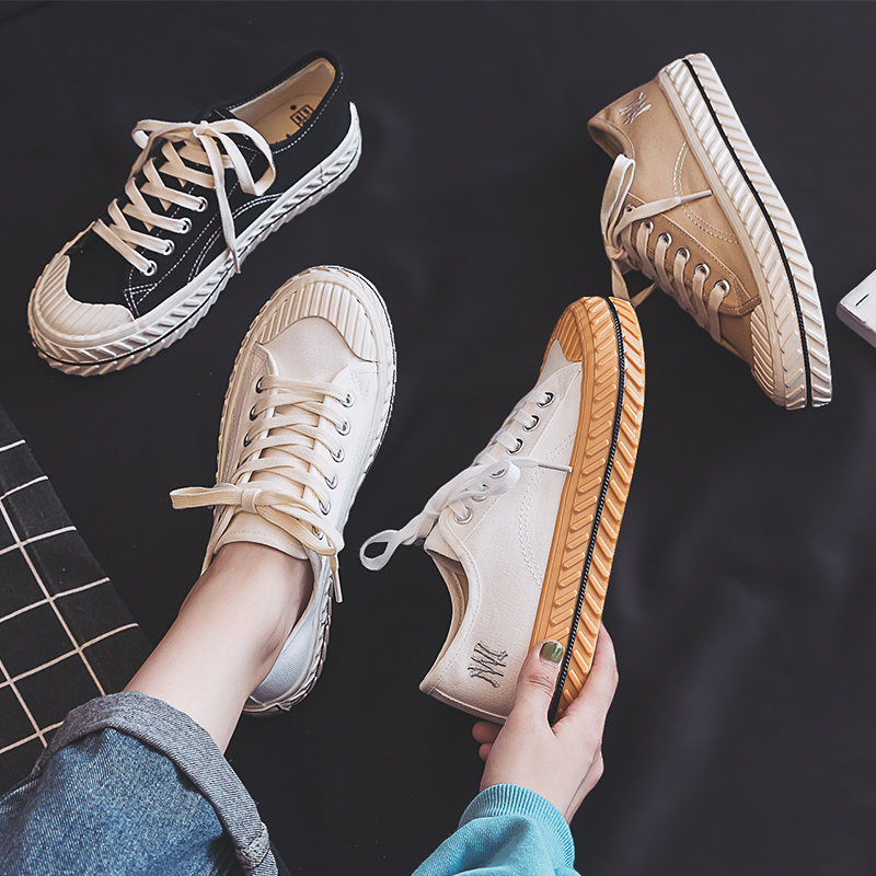 Women Canvas Shoes 2019 Autumn New Fashion Sneakers Retro Shoelace Trend Fashion Breathable Flat Sneakers Casual Shoes Women