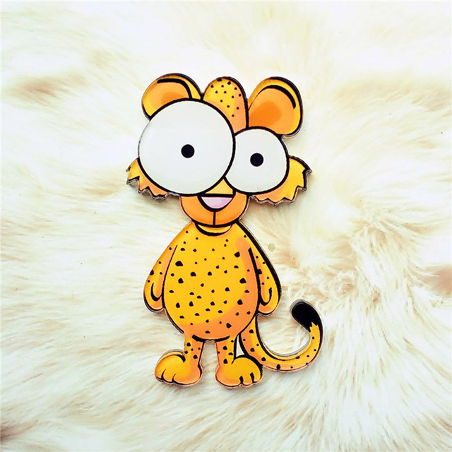 1PC High Quality Cartoon Animal Fridge Magnets Whiteboard Sticker Cute Acrylic Popular Animal Home Decoration 2