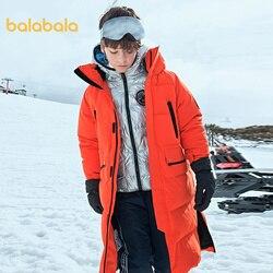 Balabala Boys mid-length down jacket 2020 winter new comfortable and warm down jacket children jacket casual jacket