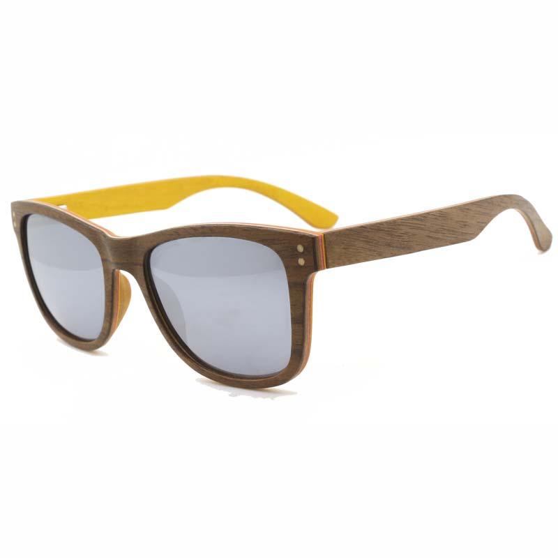 BerWer Design Wood Sunglasses Classic Bamboo Wooden Sun Glasses Natural Men Women Retro Handmade Eyewear