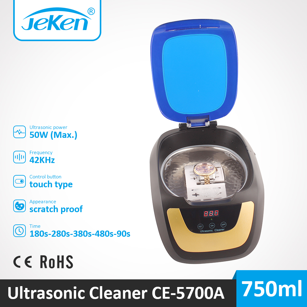 Watch Ultrasonic Cleaner 750ml Household Ultra Sonic Tank For Jewelry CD Denture Feeding Bottle Toy Shaver Head Cleaning Machine