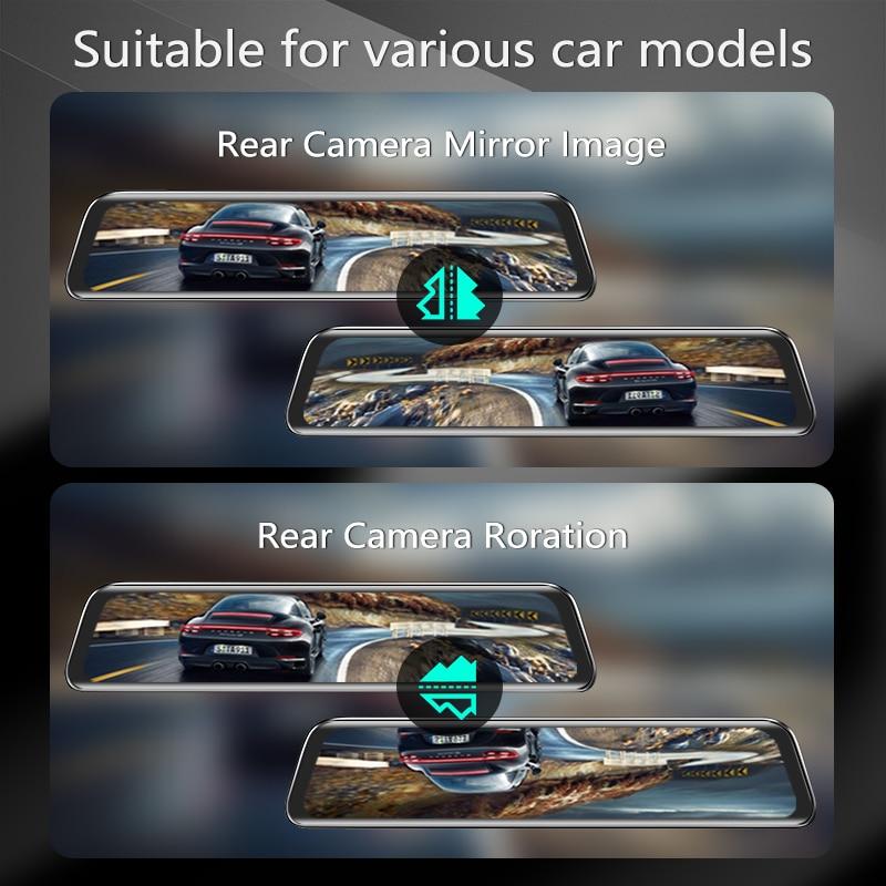 VVCAR-V17 12-inch RearView Mirror Car Dvr Camera Dashcam GPS FHD Dual 1080P Lens Driving Video Recorder Dash Cam Gift-32G Card 5