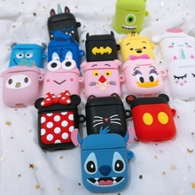 Earphone Case For Apple AirPods Silicone Headphone Cases Airpods 2 Bluetooth Wireless Cute Cartoon Protective Cover