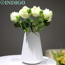 7pcs/Lot New Yellow Onion Rose Short With Bud Table Decoration Artificial Flower Wedding Party Event Free Shipping