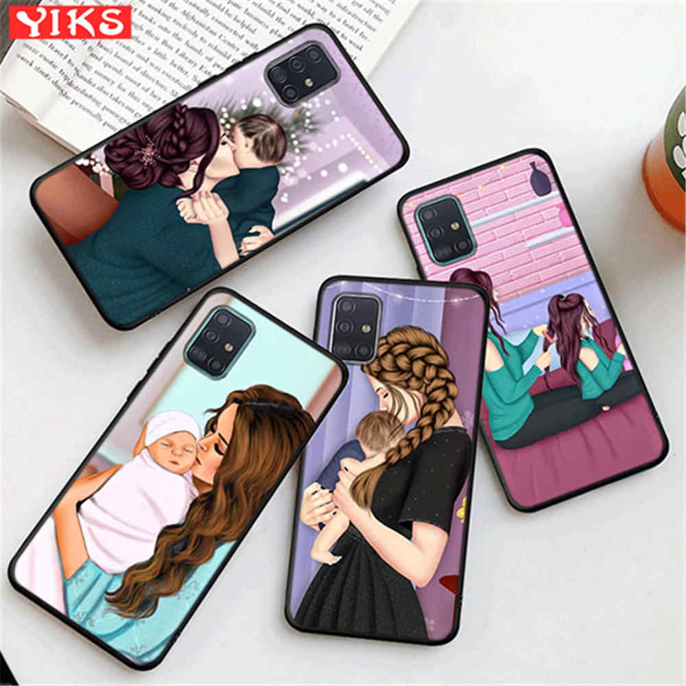 Baby Mouse Super Mom Case For Samsung S20 Plus Ultra A20 A30 A40 A40S A50 A51 A70 A71 A81 A91 M30 M60S M80S Note10 S10 Lite Etui