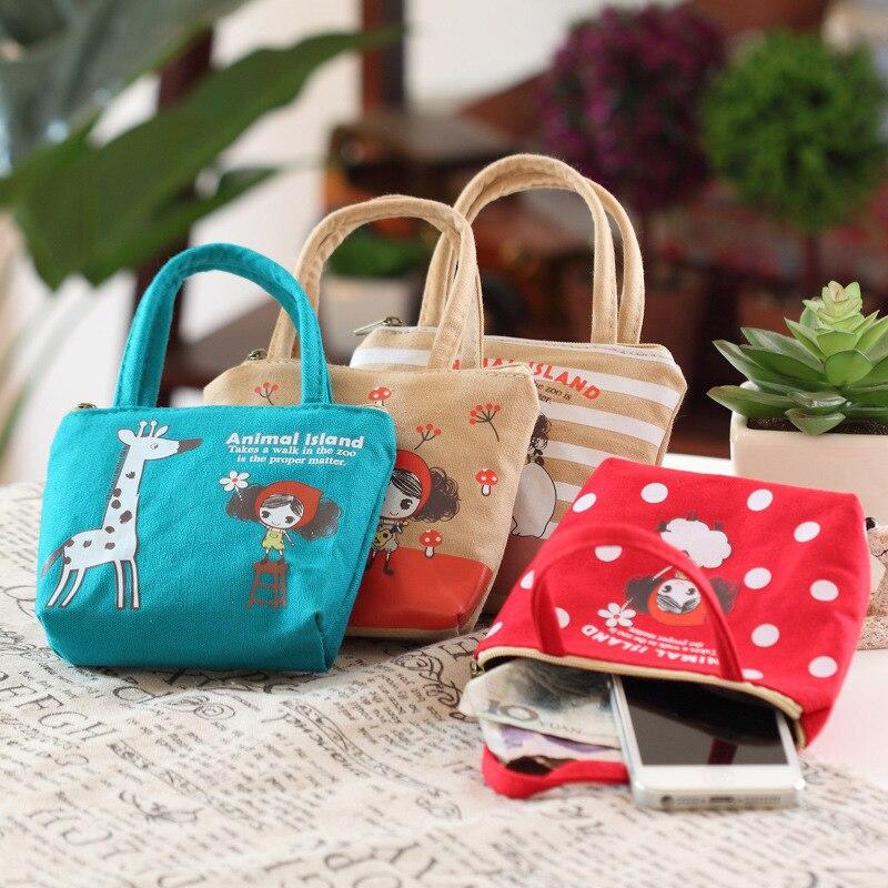 Girl'S Purse Women's Fabric Wallet Coin Storage Bag Creative Cute Cartoon Girls Children Students Gift