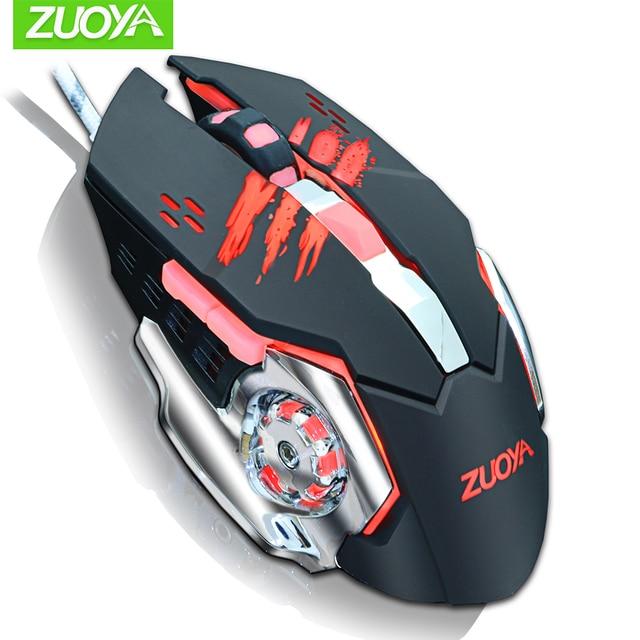 Professionale Gaming Mouse DPI Mouse Ottico con cavo Retroilluminazione A LED Computer Mouse Per Il Computer Portatile di Gioco per PC 2