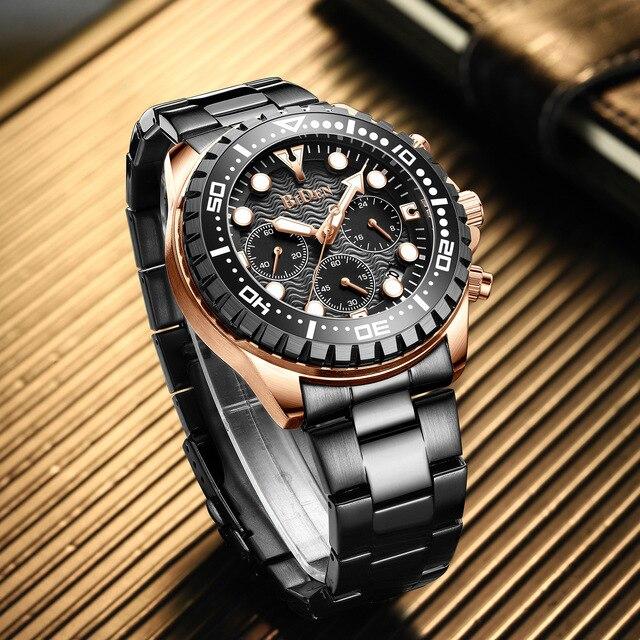 роскошные брендовые мужские часы серебристые зеленые с водным фотография