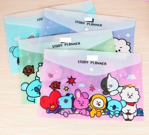 Durable Folder Cute Snap Cartoon A4 File Bag animal Document Organizer Storage bag Office School Supplies Stationery kids gift