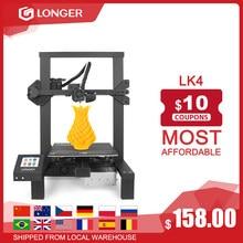 LONGER LK4 3D Printer Touch Screen 3D Print Met Uniek Frame Ontwerp Hervatten Afdrukken Veilige Voeding 3D Printer Kit 3D Drucker